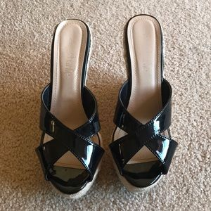 Charming Charlie Black patent leather heel 8.5